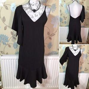 ZARA Size S / UK 8 Black Asymetric One Sleeve Cocktail Party Dress Xmas Ball