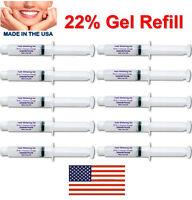 Teeth Whitening Gel Syringes 22% Tooth Bleaching Peroxide Dental Whitener 10 pcs