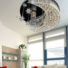 K9 Modern Crystal Round Led Moon Star Light Ceiling Lamp Chandelier Lighting
