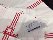 Pratesi Italy NWT 3pc Twin Duvet Set Flat Sheet Twin 100% Cotton Percale