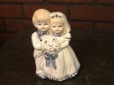 Porcelain Boy and Girl - Bride and Groom Figurine/Cake Topper