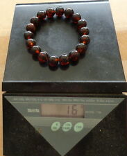 Antique Natural round cherry Baltic Amber Beads strached  bracelet     #33s