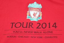 "XXL Liverpool Football Team Soccer World Tour 2014 ""You'll never walk alone"""