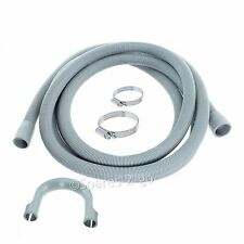 Outlet Drain Hose Pipe For Indesit Washing Machine 2.4M Kit + Jubilee Clips