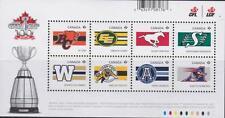 Canada 2012 Souvenir Sheet #2558 Cdn Football League Teams - MNH