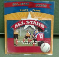 All Star Decor Baseball Picture Frame NEW in Package Red White Blue