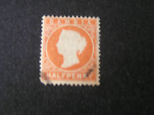 *GAMBIA, SCOTT # 5,. 1/2p VALUE ORANGE QV 1880 USED