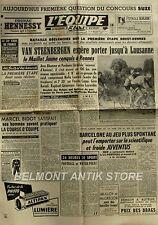 Journal l'Equipe n°1934 - 1952 - Tour de France - Van Steenberg - Mimoun -