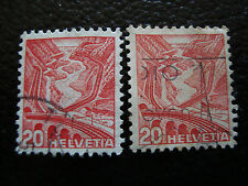 SUISSE - timbre - yvert et tellier n° 293 293A obl (A8) stamp switzerland (A)