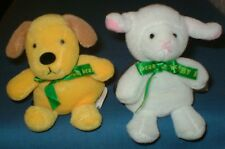 COLLECTORS ANNA CLUB PLUSH SOFT TOY BEANIE BABIES – PUPPY AND LAMB