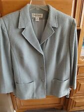 Rena Rowan Wool Boucle' Dusty Seafoam Jacket NWT $169 Matching Slacks Blouse 22W