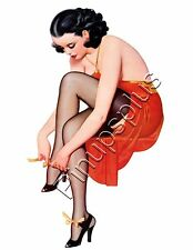 Rockabilly Pinup Girl Waterslide Decal Sticker for Guitars toolbox More S799