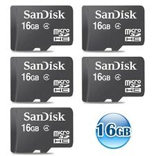 LOT of 5 16GB 16G SANDISK CLASS 4 microSDHC micro SD SDHC Memory Card WHOLESALE