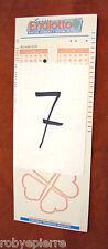 Pro-memoria Scontrino biglietto matrice non giocata di super ENALOTTO 8 numeri 7