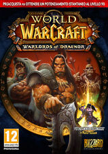 World Of Warcraft WOW Warlords Of Draenor Preorder Edition PC IT IMPORT