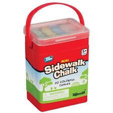 Toysmith - MINI SIDEWALK CHALK (Random Color - 20 Chalks) - New Outdoor Toy