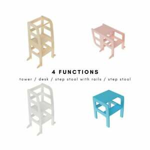 Atvikids Transformable Learning Montessori Tower Multi-Use (4 in 1) Kitchen Help
