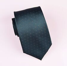 Forest Green Wide Neck Tie Floral Ego Luxury Designer Business Fashion Necktie