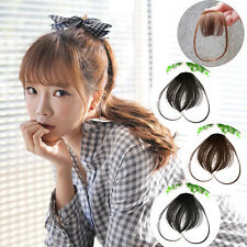 Hair Clip in Bangs Fake Hair Extension False Hair Piece Clip on Front Neat Hot