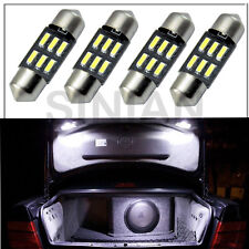 4pcs White 31mm 6smd 4014 LED DE3175 Bulbs For Car Interior Dome Map Lights DC