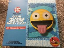 Pop Fix Giant Inflatable Awesome Smiley Emoji Float Indoor/Outdoor New
