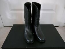 NIB 100% AUTH CHANEL 13A Ascot Black Leather Riding Boots $1325 Sz 35