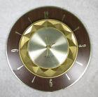 Vintage Mid Century Modern Westclox Nocord Wall Clock 12 1 2 inch Diameter