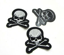 New good quality Embroidered Applique Iron On Sew On Patch Cross Skull AG-35