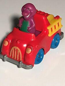 1993 BARNEY the Purple Dinosaur Diecast Red Fire Truck HASBRO Lyons Group