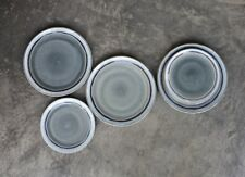 1 Grey Blue Side Plate, Clay Ceramic, Rustic Round Dinnerware Nkuku Dakara