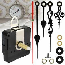 Clock Movement Mechanism Wall Quartz kit Black Hands DIY Repair Tool Parts Set