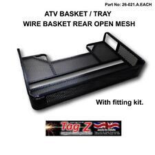 ATV Cargo Basket Tray Open Mesh Rear STORAGE Grizzly Polaris CAN-AM Utility Quad