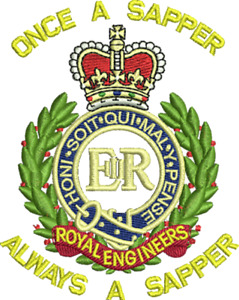 """Royal Engineers Polo Shirt """"Once a Sapper always a Sapper"""""""