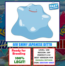 Pokemon Sword and Shield Shiny Japanese Ditto 6 IV + Destiny Knot [100% LEGIT]