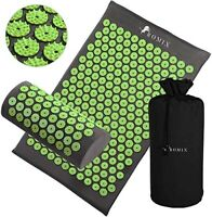 ROMIX Acupressure Mat and Pillow Set, Pain Relief Stress Reduction Massage Mat,