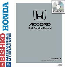 1992 Honda Accord Mechanic Workshop Service Repair Manual CD Factory OEM Guide