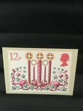 GREAT BRITAIN POSTCARD - CHRISTMAS CANDLES - 1980 - UNUSED - NEW