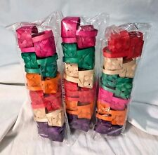 *Lot of 3* Multicolor Mini Weave Baskets 12 Pack - Purple Pink Red Orange Green