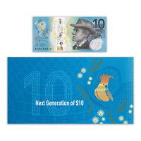 Australia 2017 Next Generation $10 Banknote New Polymer Series in RBA Folder UNC