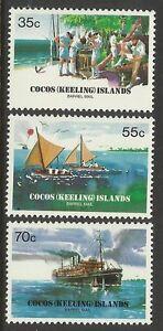 COCOS IS 1984 BARREL MAIL SHIPS 3v MNH