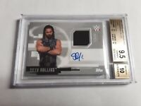 2017 Topps WWE Undisputed Seth Rollins Auto Relic Card 26/50 BGS 9.5 Auto 10