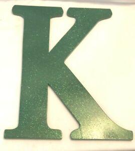 "ALEXIS COMPANY LETTER K KAPPA SORORITY BRIGHT GREEN W/ GLITTER 12"" DECOR"