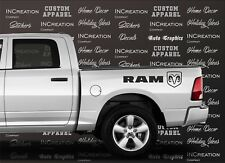 Hemi Dodge Ram x2 Vinyl Decals Stickers, rear side bed logo, Mopar 5.7 Liter RT