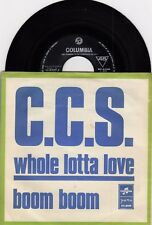 "C.C.S. WHOLE LOTTA LOVE LED ZEPPELIN 1970 RECORD YUGOSLAVIA 7"" PS SINGLE"