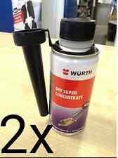 2x NEW GENUINE WURTH DPF SUPER CONCENTRATE CLEANER FUEL ADDITIVE 150ML