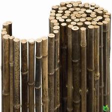 Bambusmatte 1,80 x 2,50m Black Ø 24mm Bambus Sichtschutz Zaun Garten