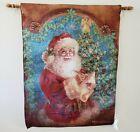 Christmas Magic Santa Checking List Tapestry W/Lights & Music by Dona Gelsinger