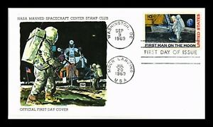 DR JIM STAMPS FIRST MAN ON MOON FDC SCOTT C76 NASA MANNED SPACECRAFT US COVER