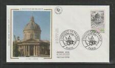 FRANCE 1995 SG3289 YVERT 2973 soie FDC (Paris) Bicentenaire de Institut français,
