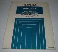 Repair Manual Toyota Automatic Transmission A40 / A41 KP 61 KE 70 TA60 RX60